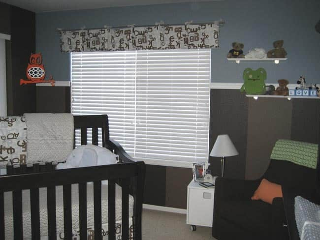 Nursery Tour: Evan's Brown and Blue with Pops of Orange Room: gallery slide thumbnail 8