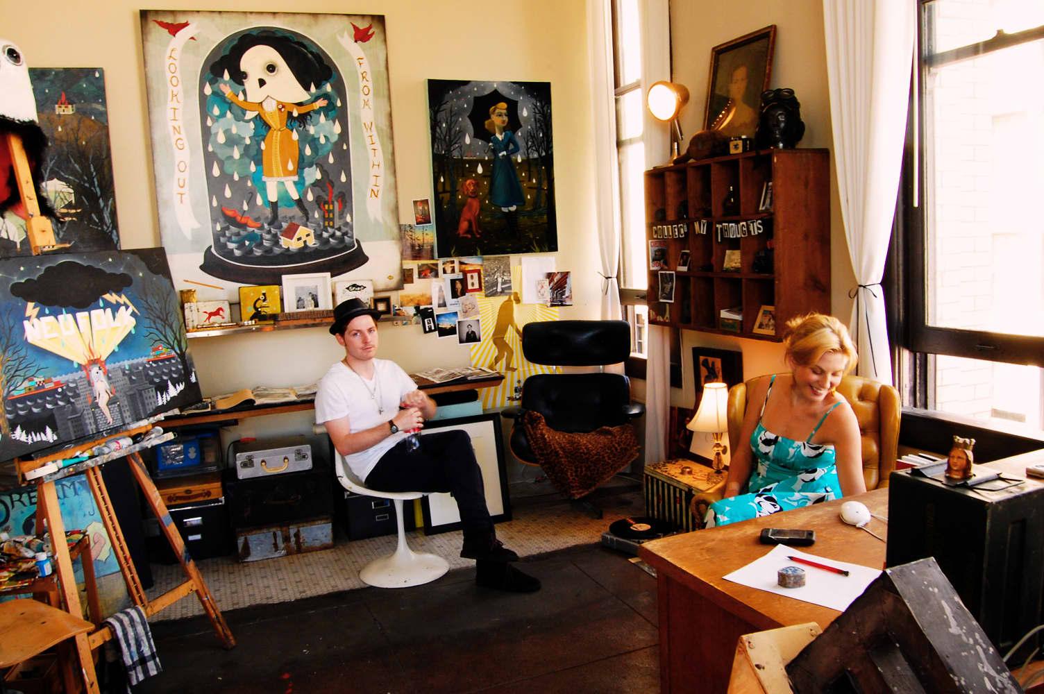 LA House Tour: Anne & Jacob's Curiosity Shop Meets MidCentury Modern: gallery slide thumbnail 4