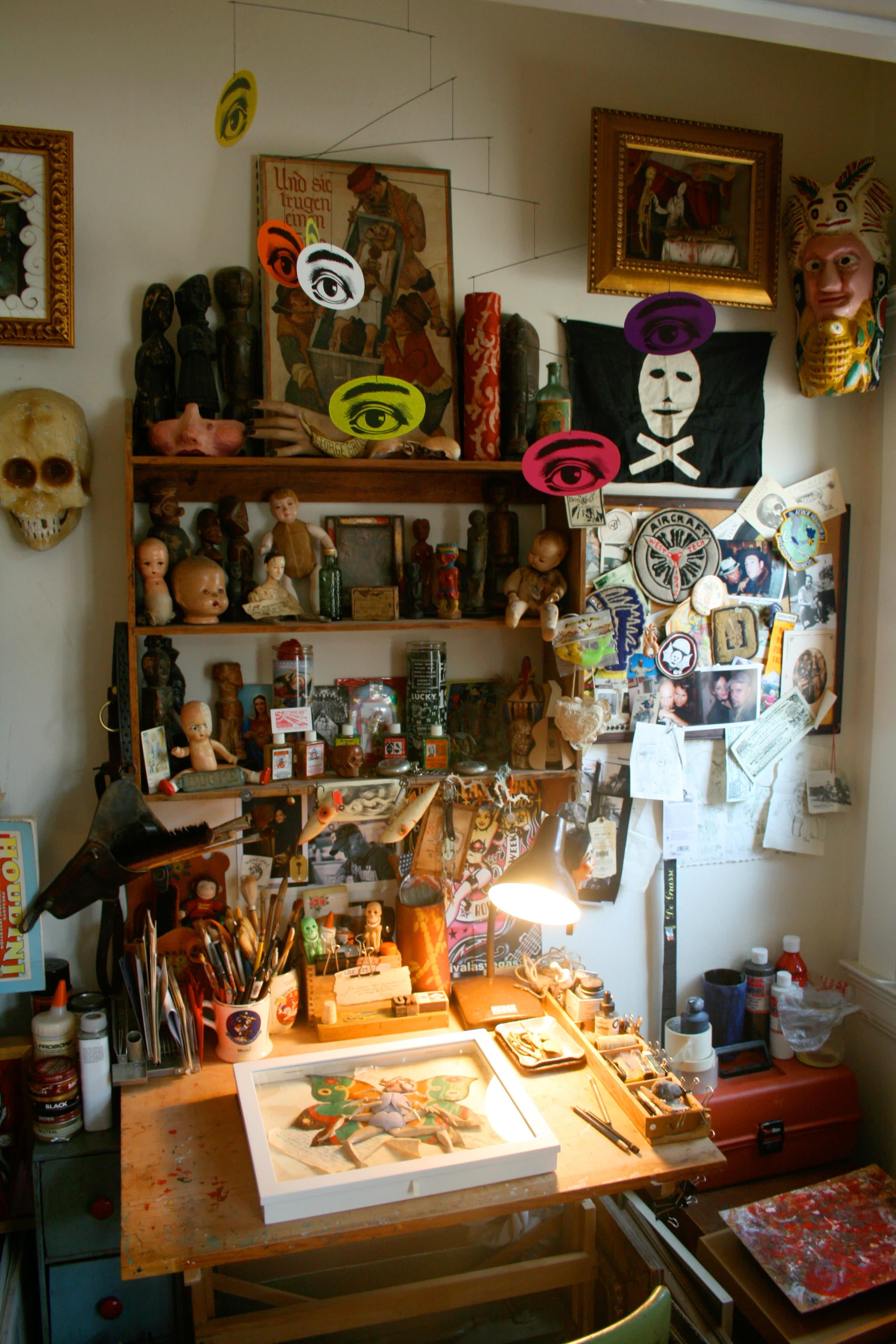House Tour: Patrick's Curiosity-Filled Studio: gallery slide thumbnail 18