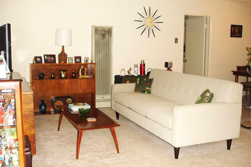 House Call: Carrie's Mid Century Danish Modern Apartment: gallery slide thumbnail 1