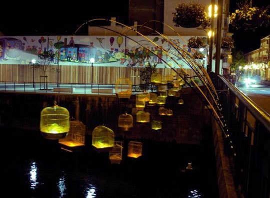 Inspiring Public Art: Fishing Light by Luz Interruptus: gallery slide thumbnail 3