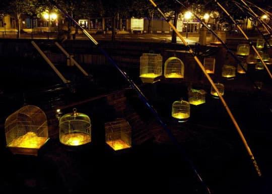 Inspiring Public Art: Fishing Light by Luz Interruptus: gallery slide thumbnail 2