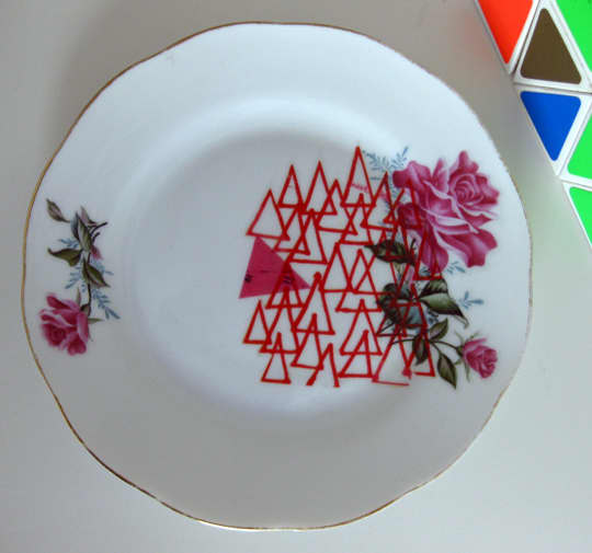 Etsy Find: Upcycled Vintage Plates by Le Petit Boutique: gallery slide thumbnail 2