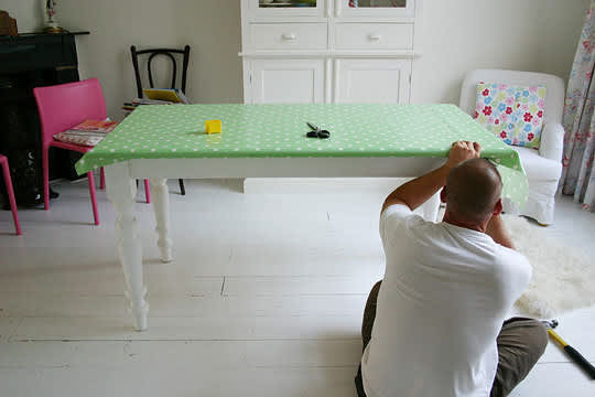 Restyle a Basic Wooden Dining Table: gallery slide thumbnail 3