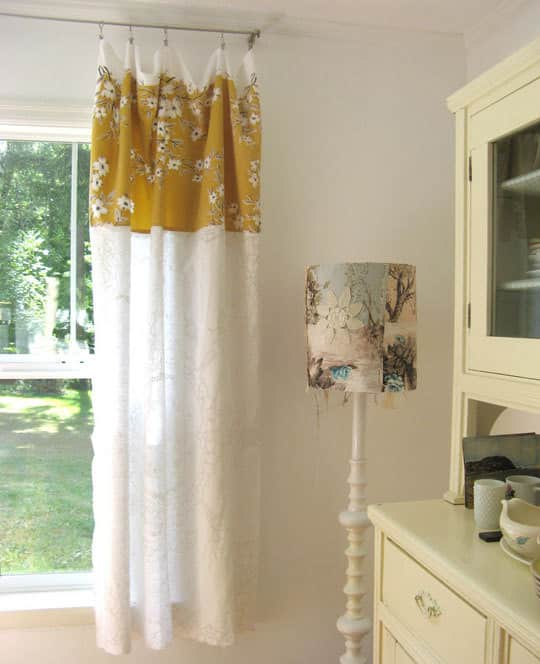 Easy DIY: Turn Tablecloths Into Curtains: gallery slide thumbnail 3