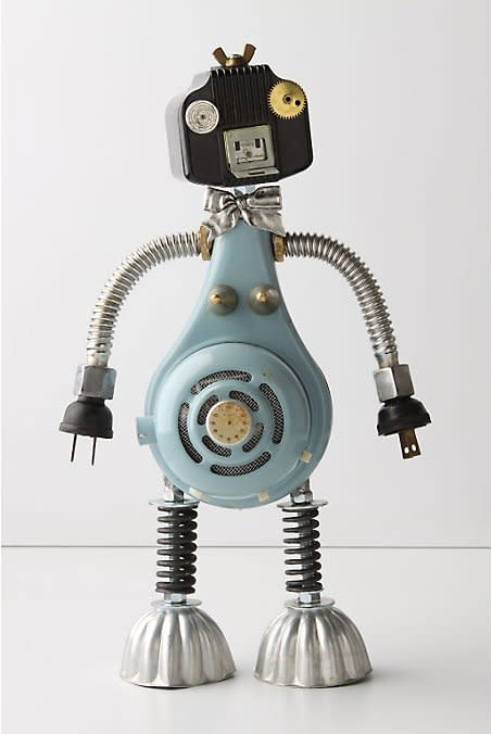 One-Of-A-Kind Found Object Robots at Anthropologie: gallery image 1