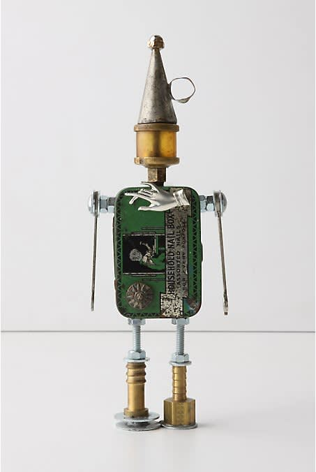 One-Of-A-Kind Found Object Robots at Anthropologie: gallery slide thumbnail 2