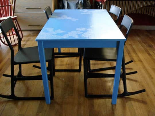 Restyle a Basic Wooden Dining Table: gallery slide thumbnail 2