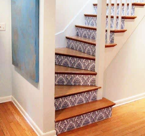Daring Staircases: Paint, Stencils, & Wallpaper: gallery slide thumbnail 3