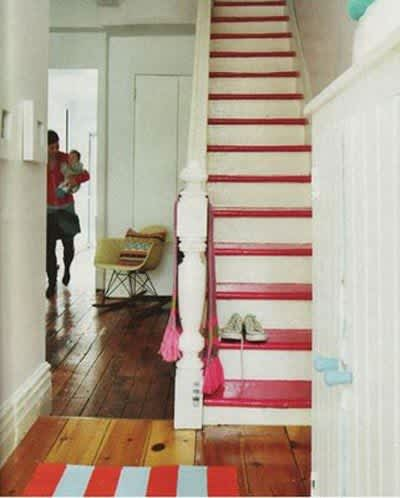 Daring Staircases: Paint, Stencils, & Wallpaper: gallery slide thumbnail 1