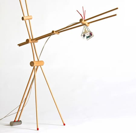 Desk Lamp Held Together with Rubber Bands: gallery slide thumbnail 4