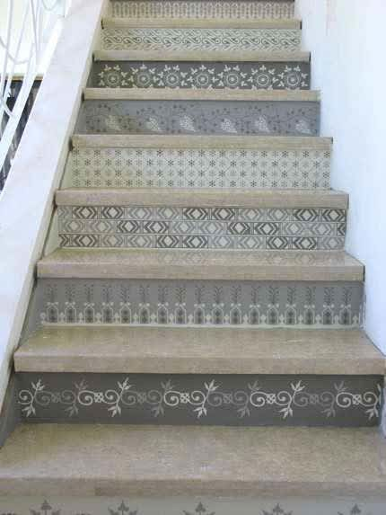 Daring Staircases: Paint, Stencils, & Wallpaper: gallery slide thumbnail 5