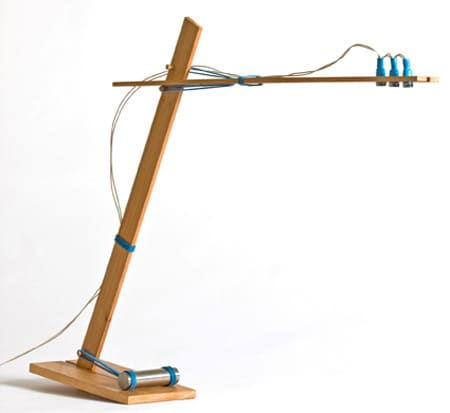 Desk Lamp Held Together with Rubber Bands: gallery slide thumbnail 1