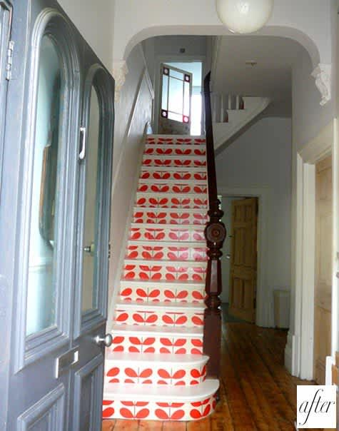 Daring Staircases: Paint, Stencils, & Wallpaper: gallery slide thumbnail 2