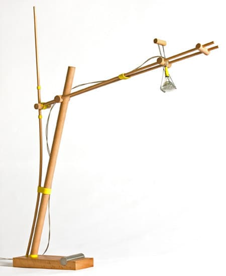 Desk Lamp Held Together with Rubber Bands: gallery slide thumbnail 3