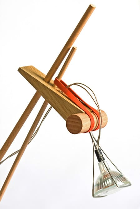 Desk Lamp Held Together with Rubber Bands: gallery slide thumbnail 5