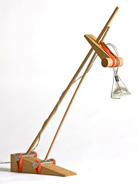 Desk Lamp Held Together with Rubber Bands: gallery slide thumbnail 8