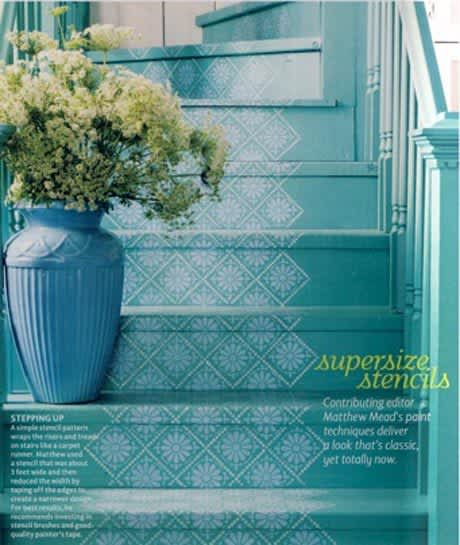 Daring Staircases: Paint, Stencils, & Wallpaper: gallery slide thumbnail 6