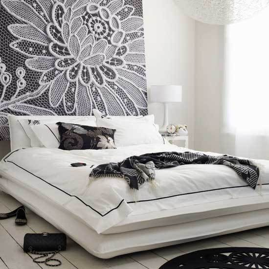 A Great Look: White Walls & Big Art in the Bedroom: gallery slide thumbnail 3