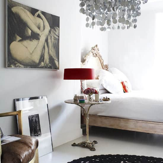A Great Look: White Walls & Big Art in the Bedroom: gallery slide thumbnail 4