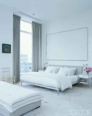 A Great Look: White Walls & Big Art in the Bedroom: gallery slide thumbnail 5