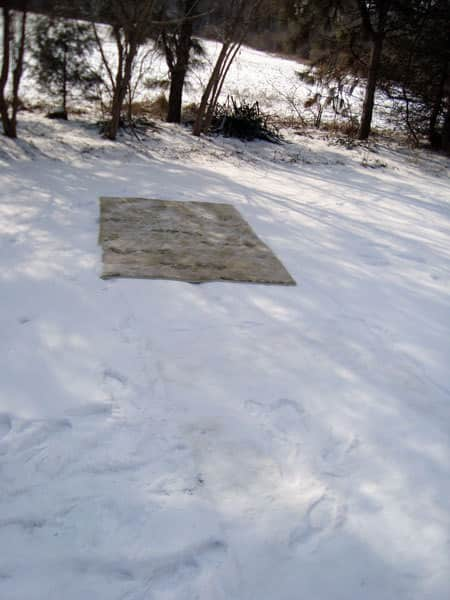 How To Clean a Wool Rug with Snow: gallery slide thumbnail 8
