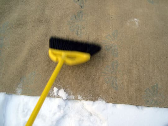 How To Clean a Wool Rug with Snow: gallery slide thumbnail 4