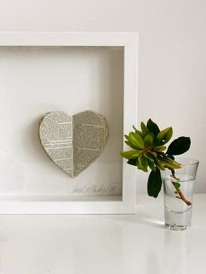 Inspiration: Decorating With Old Book Pages: gallery slide thumbnail 2