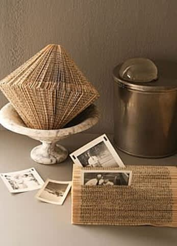 Inspiration: Decorating With Old Book Pages: gallery slide thumbnail 6