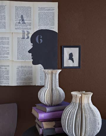 Inspiration: Decorating With Old Book Pages: gallery slide thumbnail 5