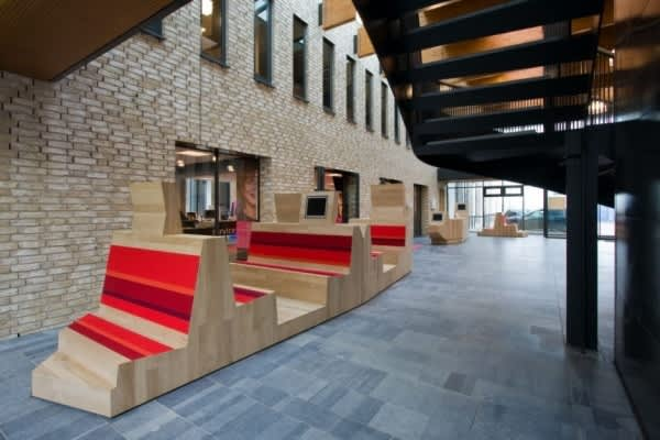 Dutch Campus Beautifully Integrates Computers Within Furniture: gallery slide thumbnail 1