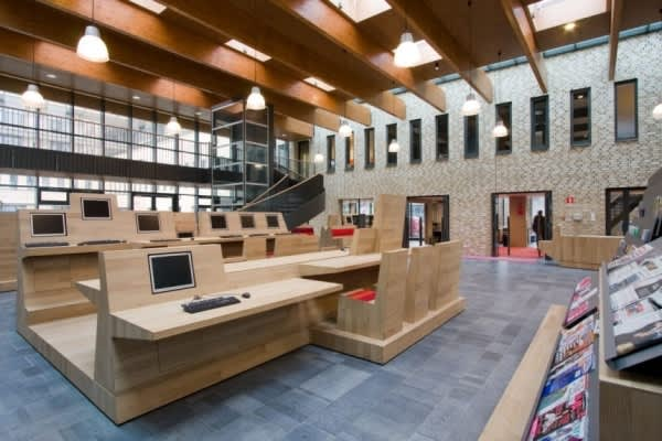 Dutch Campus Beautifully Integrates Computers Within Furniture: gallery slide thumbnail 3