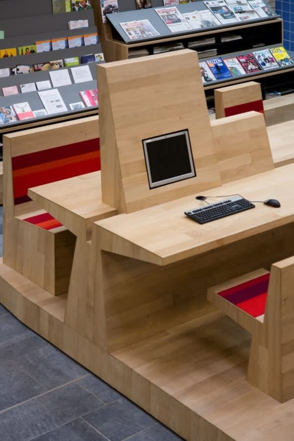 Dutch Campus Beautifully Integrates Computers Within Furniture: gallery slide thumbnail 7