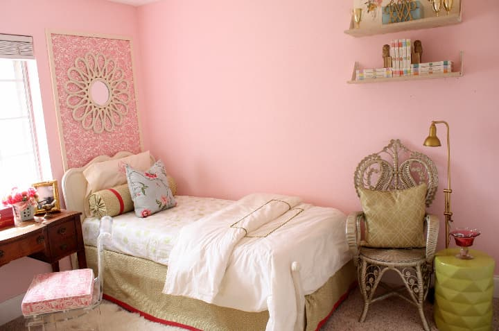 Budget Style: Pretty in Pink Shared Room for Under $250: gallery slide thumbnail 3