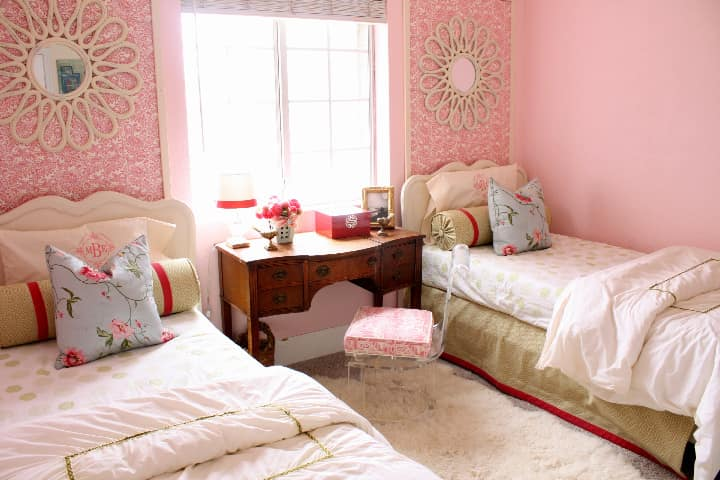 Budget Style: Pretty in Pink Shared Room for Under $250: gallery slide thumbnail 1