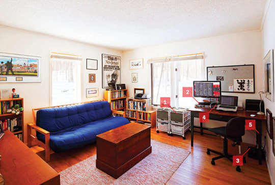 Wired's Steven Levy Gets A Home Office Makeover: gallery slide thumbnail 4