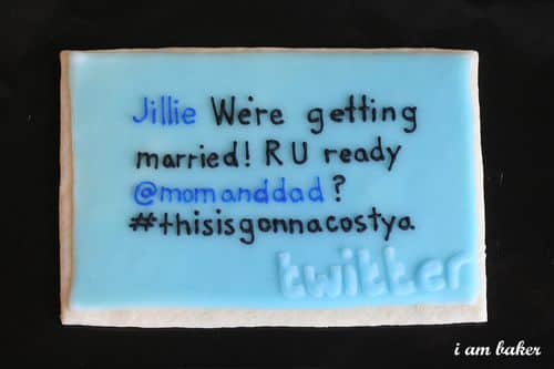 Tweets & Sweets To Announce Your Big Day: gallery slide thumbnail 1