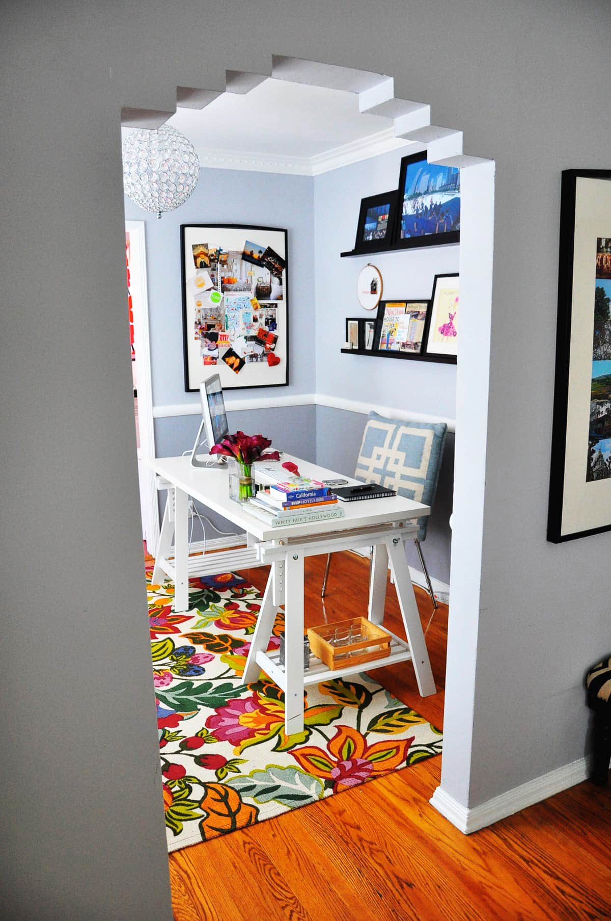 Rebecca's Loving Living Small Home Office: gallery slide thumbnail 1