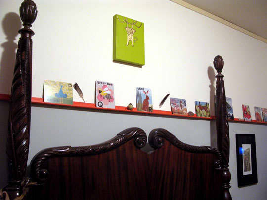Ledges & Shallow Shelves: Hanging Art Without Commitment: gallery slide thumbnail 1