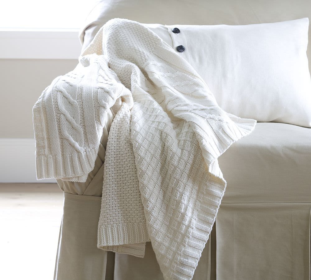Getting Cozy: Sweater Inspired Throw Blankets: gallery slide thumbnail 2