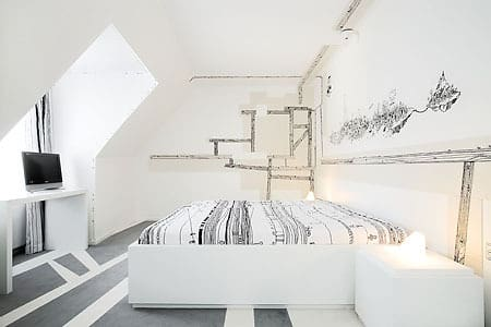 White and Minimal Tech Bedrooms: gallery slide thumbnail 2