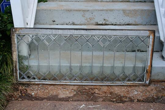 DIY Idea: Make a Mirror from a Leaded Glass Window: gallery slide thumbnail 3