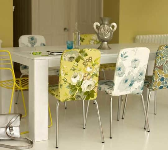 Colorful Floral Dining Chairs: gallery slide thumbnail 5