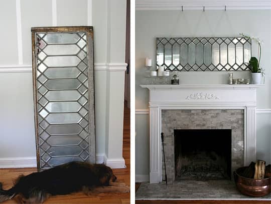 DIY Idea: Make a Mirror from a Leaded Glass Window: gallery slide thumbnail 2