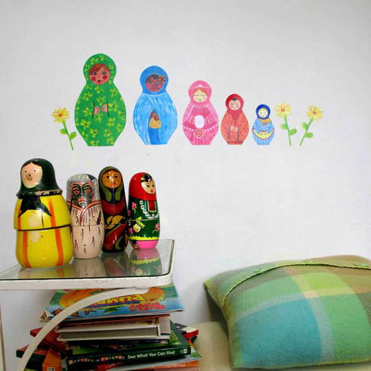 Sticky Tiki: Fabric Wall Decals: gallery slide thumbnail 5