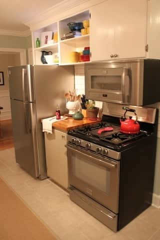 Before & After: Amy & Chad's Kitchen Update on a Budget: gallery slide thumbnail 1