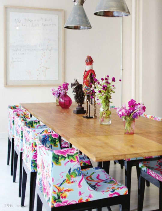 Colorful Floral Dining Chairs: gallery slide thumbnail 2