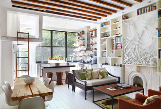 Living and Dining Room Inspiration from our Green Tours: gallery slide thumbnail 1