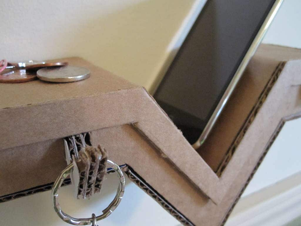 Build a Cardboard Shelf Perfect for Your Phone & Keys: gallery slide thumbnail 1