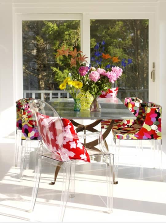 Colorful Floral Dining Chairs: gallery slide thumbnail 3
